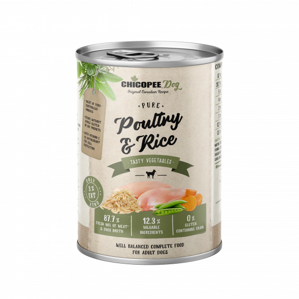 Chicopee Dog Adult Poultry & Rice 12 x 400 gram
