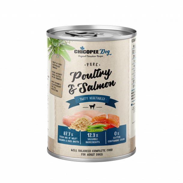 Chicopee Dog Adult Poultry & Salmon 12 x 400 gram