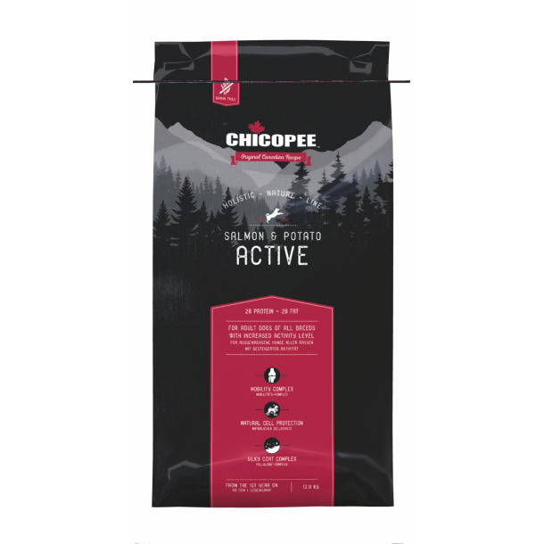 Active Salmon & Potato (fra 4 kg) - Chicopee Holistic Nature Line